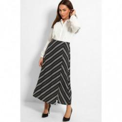 Black Asymmetric Stripe...